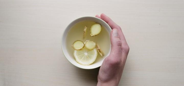 Tee, Tasse, Zitrone, Ingwer