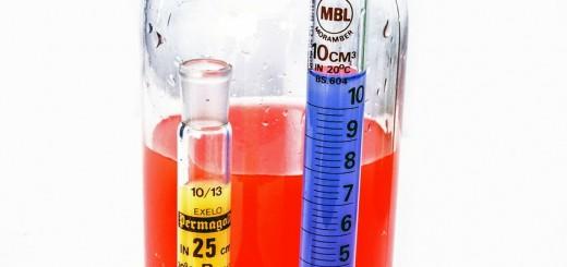 Messzylinder im Labor